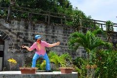 Niewiadomego żołnierza rzeźba przy Muzealnymi ol tradycjami w Leon i legendami, Nikaragua zdjęcia stock