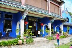 Niewiadomy gość bierze fotografię sławny Cheong Fatt Tze Błękitny obraz stock