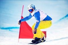 Niewiadomy snowboarder Obrazy Royalty Free