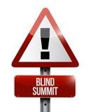 Niewidomego szczytu znaka ostrzegawczego ilustracyjny projekt Zdjęcie Stock