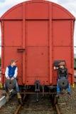 Niewidomi pasażery zdjęcie stock