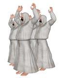 Niewidomi zwolenników czciciele Ilustracyjni Zdjęcia Royalty Free