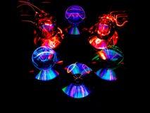 Niewidzialny duch Lensballs z Zawieszonym światłem obraz stock