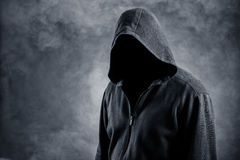 Niewidzialny mężczyzna w kapiszonie Obraz Stock