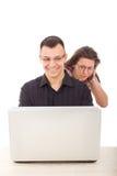 Niewierność nad internetem Zdjęcia Royalty Free