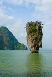 Niewolna James Wyspa, Phang Nga, Tajlandia Obrazy Royalty Free