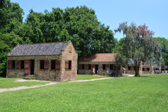 Niewolnicze kabiny w Boone Hall plantaci Zdjęcia Stock