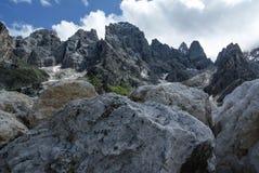 Niewygładzeni szczyty Blady Di San Martino Zdjęcie Stock