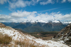 Niewygładzone Darran góry od Routeburn śladu Obraz Royalty Free