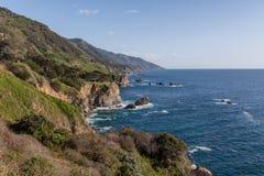 Niewygładzony Kalifornia wybrzeża krajobraz Fotografia Royalty Free