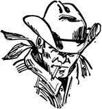 Niewygładzony kowboj ilustracja wektor