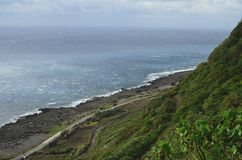 Niewygładzony krajobraz westernu wybrzeże Lanyu Storczykowa wyspa obraz royalty free