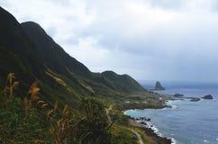 Niewygładzony krajobraz westernu wybrzeże Lanyu Storczykowa wyspa obraz stock