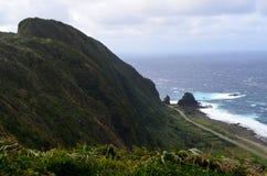 Niewygładzony krajobraz westernu wybrzeże Lanyu Storczykowa wyspa zdjęcia royalty free