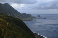 Niewygładzony krajobraz westernu wybrzeże Lanyu Storczykowa wyspa fotografia stock