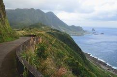 Niewygładzony krajobraz westernu wybrzeże Lanyu Storczykowa wyspa obrazy stock