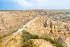Niewygładzony krajobraz zakłada w badlands parku narodowym, Południowy Dakota zdjęcie stock