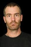 Niewygładzony mężczyzna portret Zdjęcie Stock