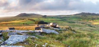 Niewygładzony Moorland w Cornwall zdjęcia stock