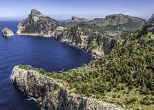 Niewygładzony przylądek Formentor, Majorca zdjęcia royalty free