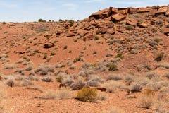 Niewygładzony pustynia krajobraz obrazy stock