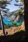 Niewygładzony sceniczny Kalifornia wybrzeża krajobraz Obrazy Stock