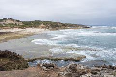 Niewygładzony Seascape Mornington półwysep, Australia Obrazy Royalty Free
