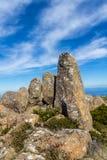 Niewygładzony szczyt góra Wellington z doleryt głazami zdjęcia royalty free