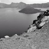 Niewygładzony widok wyspa fotografia royalty free