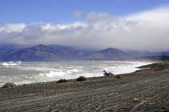 Niewygładzony wybrzeże Kaikoura, Nowa Zelandia obraz royalty free