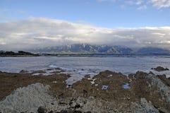 Niewygładzony wybrzeże Kaikoura, Nowa Zelandia fotografia stock