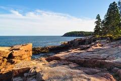 Niewygładzony wybrzeże Maine zdjęcie stock