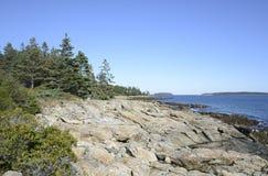 Niewygładzony wybrzeże Maine Obrazy Royalty Free