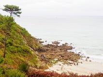 Niewygładzony wybrzeże - Praia De Langosteira zdjęcie stock