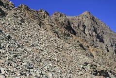 Niewygładzony wysokogórski krajobraz wałkoniący się Dzwon i łoś Rozciągamy się, Kolorado, Skaliste góry obrazy royalty free