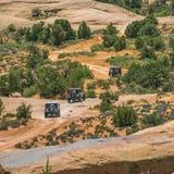 Niewygładzony z drogowego śladu w Moab Utah na słonecznym dniu zdjęcia royalty free