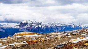 Niewygładzeni halni szczyty otacza Whistlers, blisko miasteczka jaspis Obrazy Royalty Free