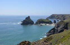 Niewygładzona linia brzegowa blisko jaszczurka punktu, Cornwall Fotografia Royalty Free