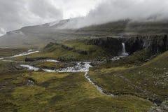 Niewygładzony krajobraz Fossarfell w Austurland Iceland Zdjęcia Stock
