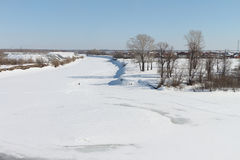 Śnieżysty łóżko rzeka Fotografia Stock