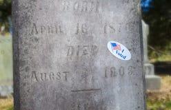 Nieżywy wyborca Fotografia Royalty Free