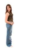 niezła fullbody brunetka kielicha stanowisko Zdjęcie Royalty Free