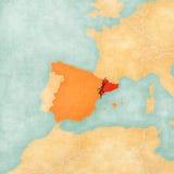 Niezależność Catalonia royalty ilustracja