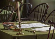 Niezależność Hall dokąd deklaracja niepodległości i U S Konstytucja podpisywał zdjęcia royalty free