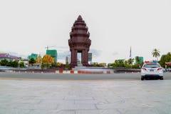 Niezależność zabytek jest jeden punkt zwrotny w Phnom Penh, Kambodża Obraz Royalty Free