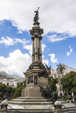 Niezależność zabytek w placu Grande Quito, Ekwador Zdjęcie Stock