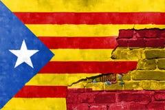 Niezależności referendum oczekuje trzymającym w Catalonia Obrazy Royalty Free