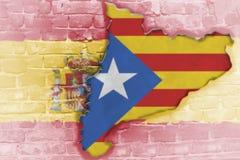 Niezależności referendum oczekuje trzymającym w Catalonia Obraz Royalty Free