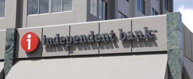 Niezależny banka znak Zdjęcia Stock
