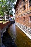 Niezdobna河在什切齐内克-波兰的中心 库存照片